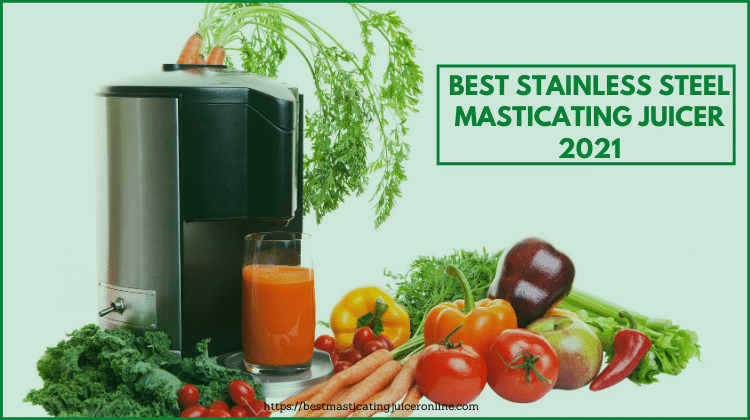 5 Best Stainless Steel Masticating Juicer 2021 | Buying guide & Reviews