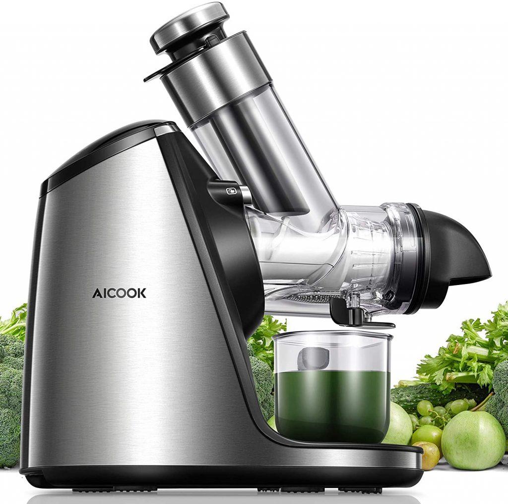 Juicer Machines, Aicook Slow Masticating Juicer Extractor 200W best masticating juicer for hard vegetables 2021