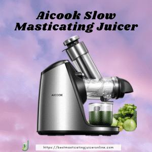 best masticating juicer for hard veggies Aicook Slow Masticating Juicer