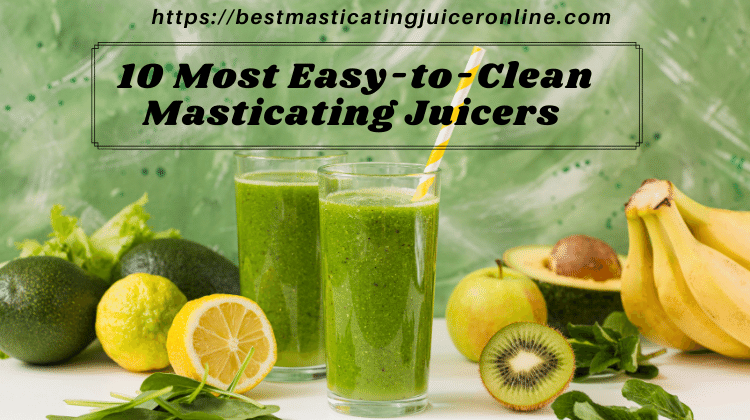 10 Most Easy-to-Clean Masticating Juicers