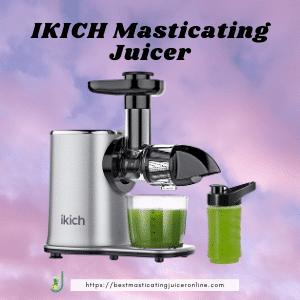 best masticating juicer for hard veggies 2021 IKICH Masticating Juicer