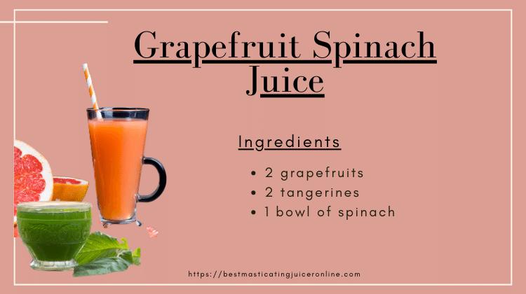 grape spinach juice