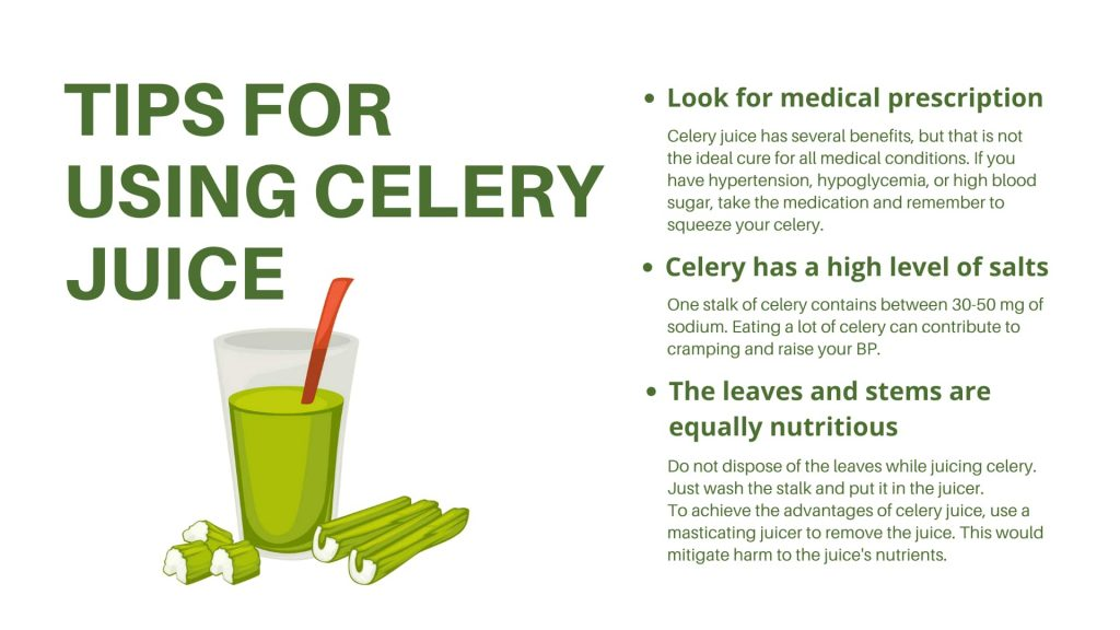 Tips for using Celery juice