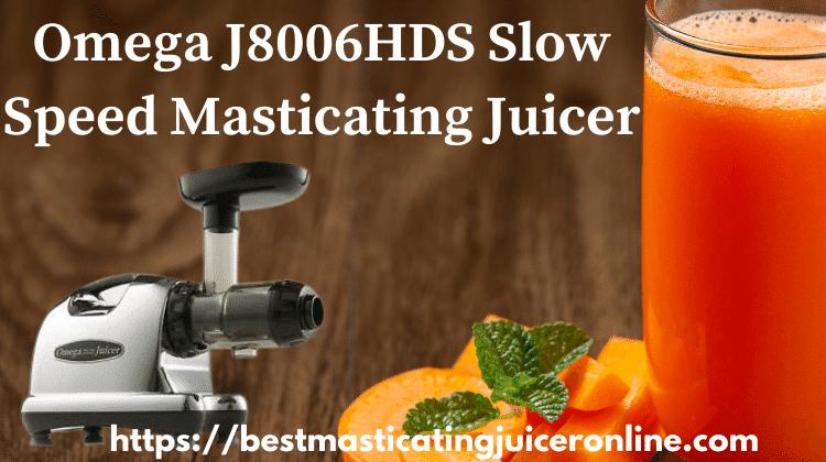 Omega J8006HDS Slow Speed Masticating Juicer