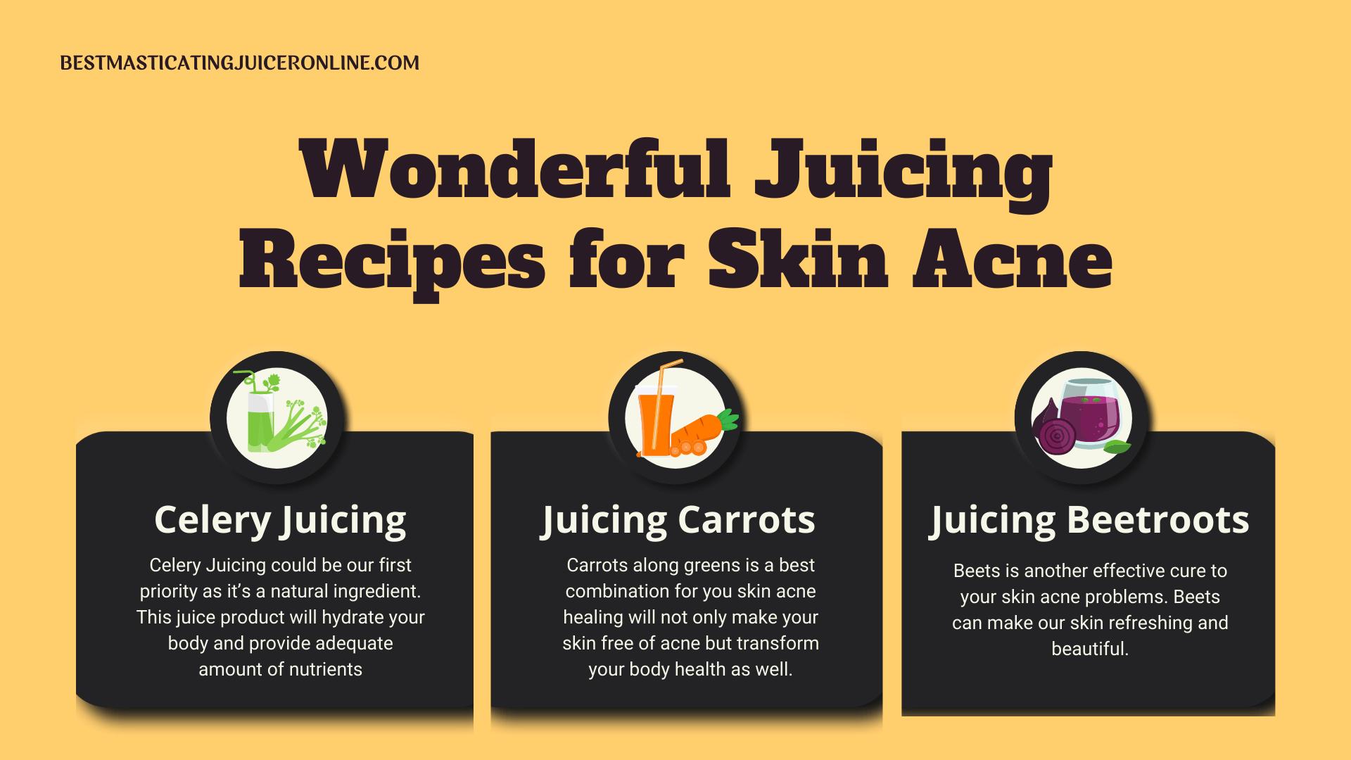 Wonderful Juicing recipes for Skin Acne
