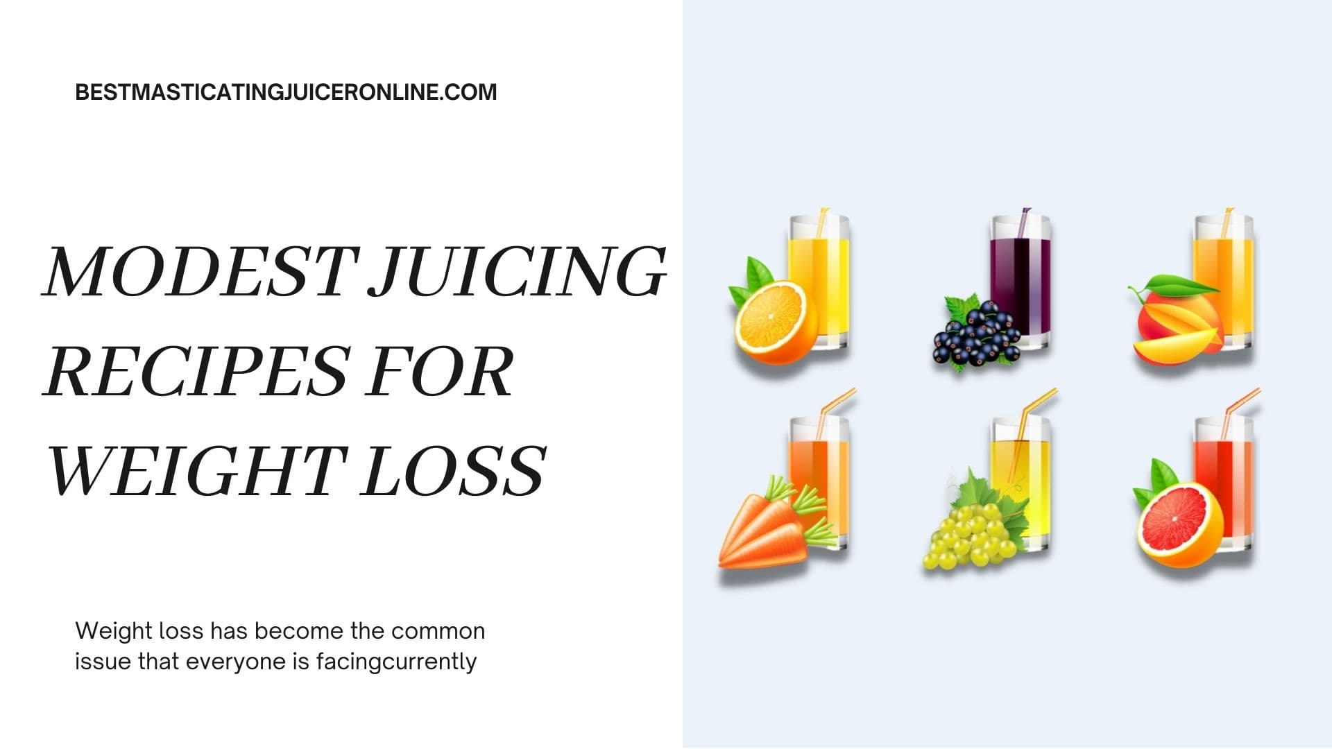 Modest juicing recipes for weight loss