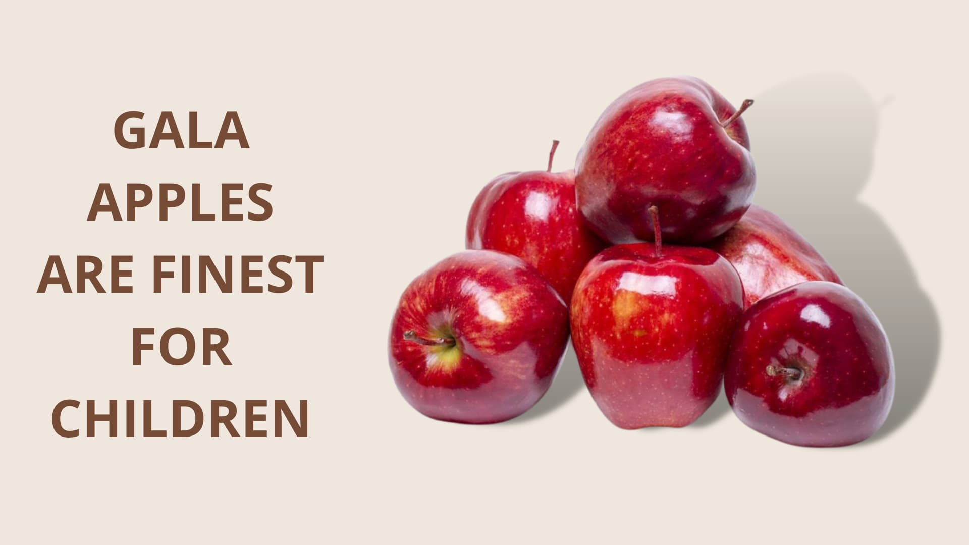 Gala Apples are Finest for Children