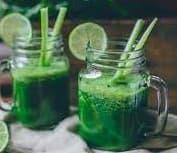 Rose-water Green Leafy Juice Recipe