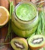 WheatGrass Kiwi Juice Recipe